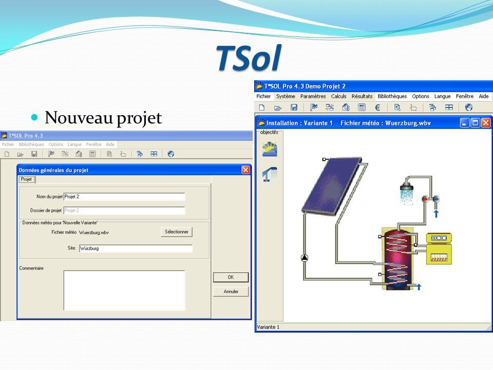 TSol Nouveau projet
