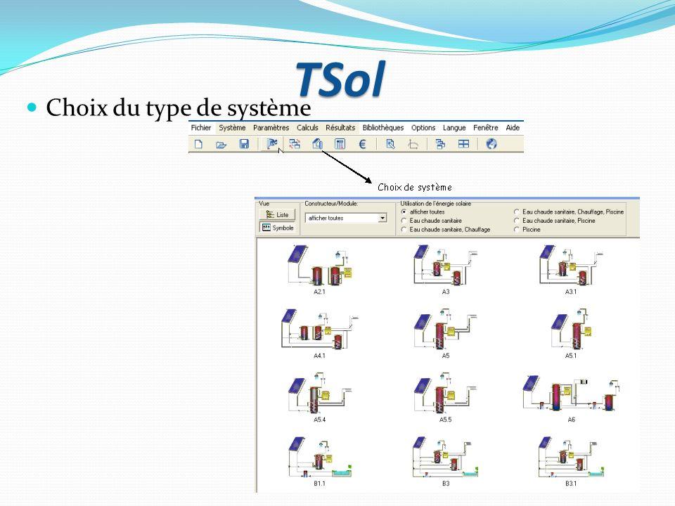 TSol Choix du type de système