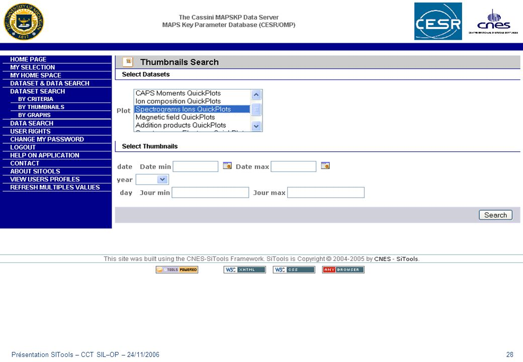 Présentation SITools – CCT SIL–OP – 24/11/200628