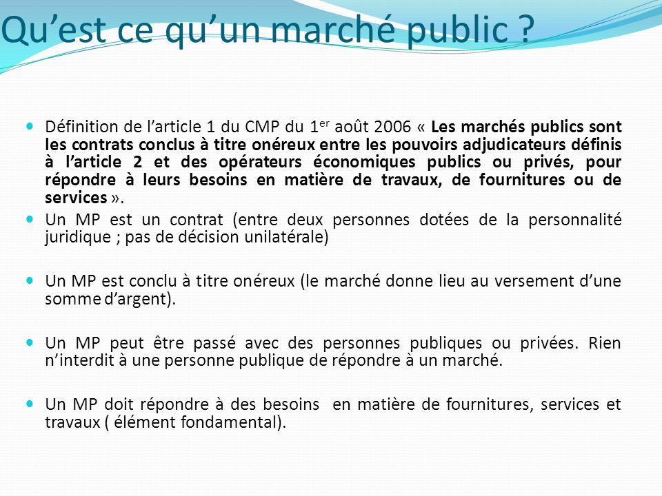 Les grands principes du CMP Ces principes se justifie dabord par limportance dans l économie des différentes formes de commande publique (120-140 Md par an, soit environ 10 % du PIB).