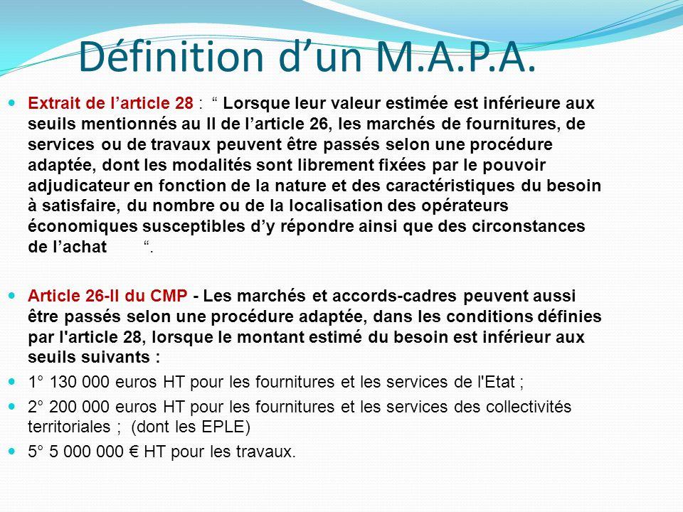 Définition dun M.A.P.A.