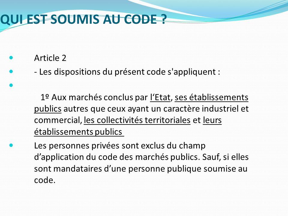 LE CODE DES MARCHES PUBLICS ET LEPLE LES ACTEURS Les M.A.P.A.