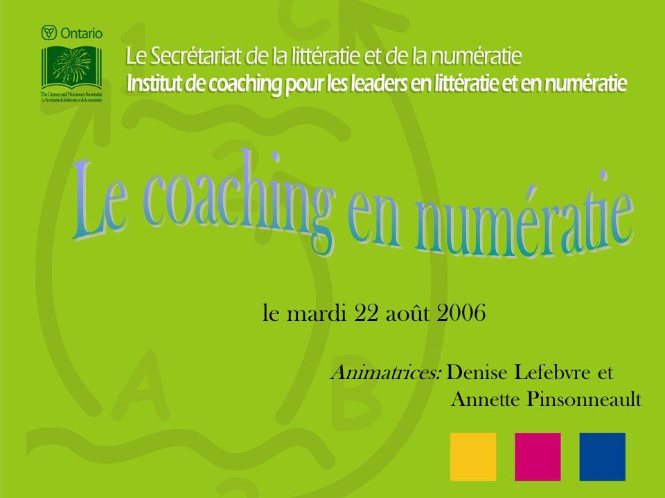 le mardi 22 août 2006 Animatrices: Denise Lefebvre et Annette Pinsonneault