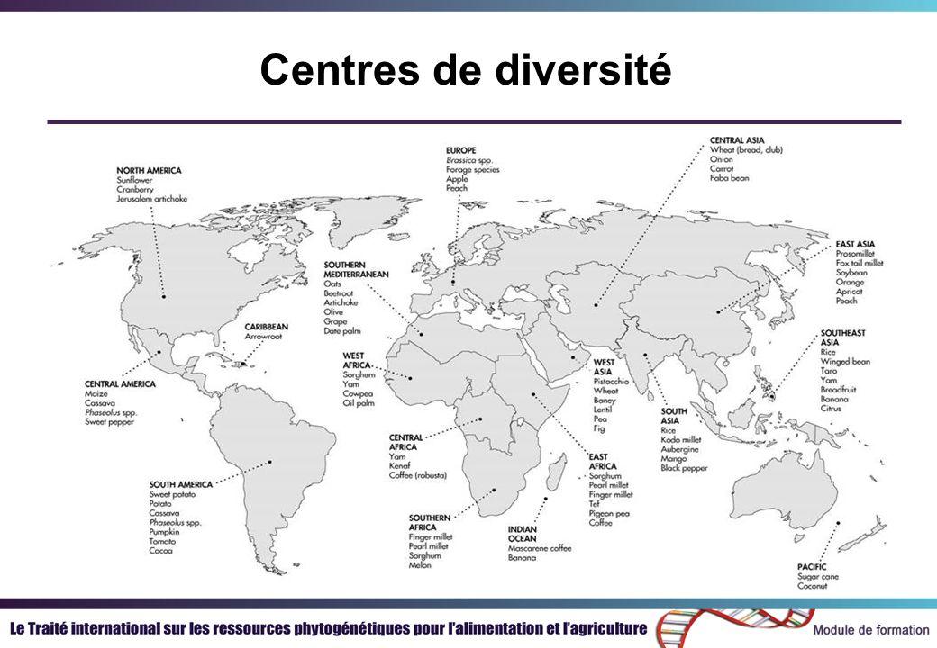 Centres de diversité