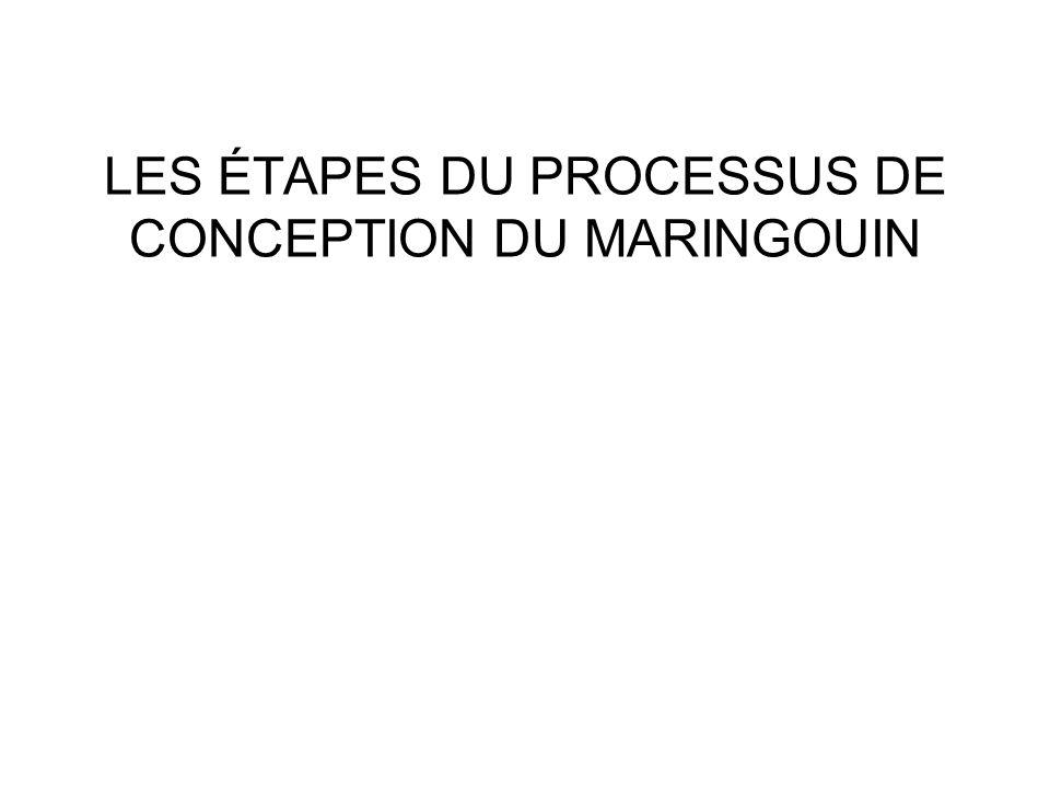 LES ÉTAPES DU PROCESSUS DE CONCEPTION DU MARINGOUIN