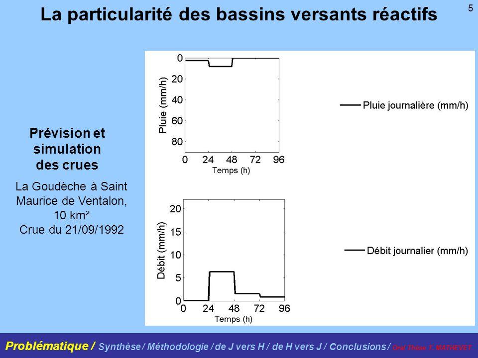 5 La particularité des bassins versants réactifs La Goudèche à Saint Maurice de Ventalon, 10 km² Crue du 21/09/1992 Prévision et simulation des crues