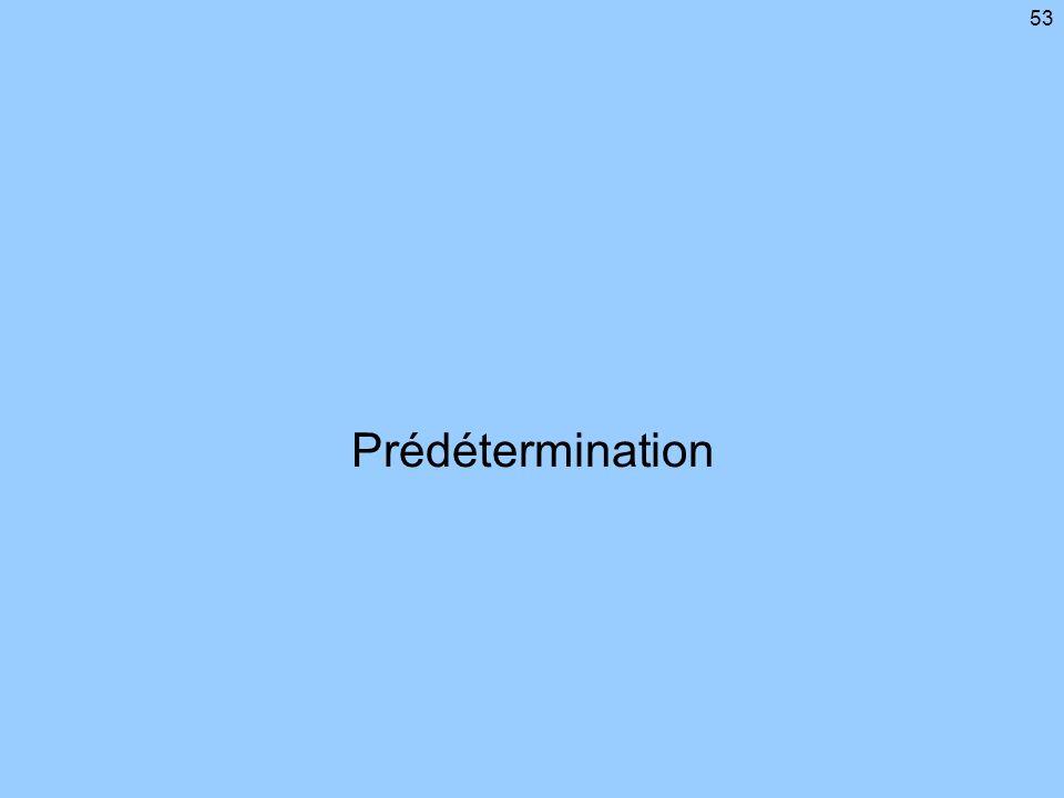 53 Prédétermination