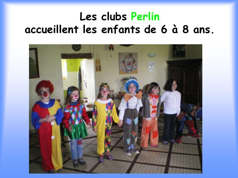 Les clubs Perlin accueillent les enfants de 6 à 8 ans.