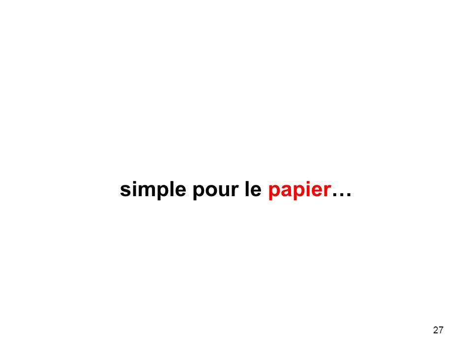 27 simple pour le papier…