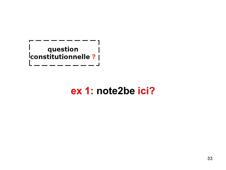 33 ex 1: note2be ici question constitutionnelle