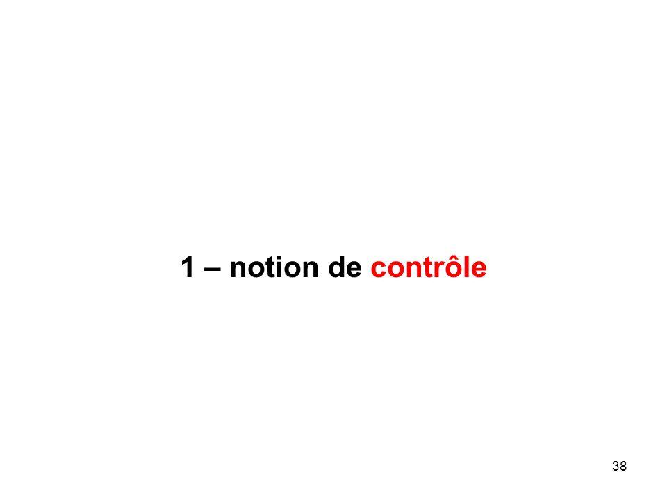 38 1 – notion de contrôle