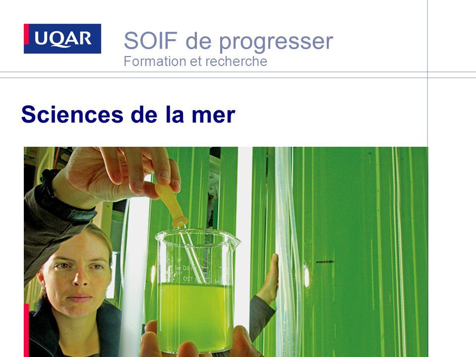 SOIF de progresser Formation et recherche Sciences de la mer