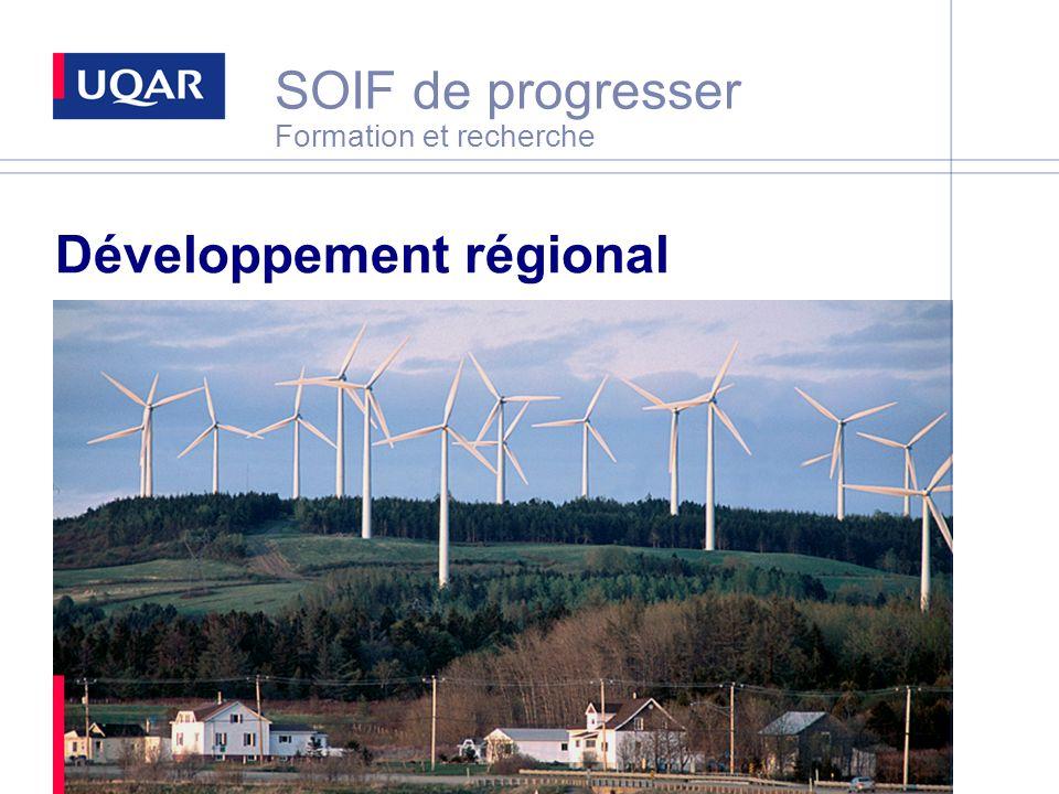 SOIF de progresser Formation et recherche Développement régional