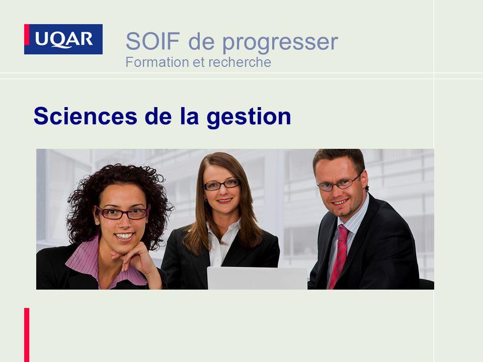 SOIF de progresser Formation et recherche Sciences de la gestion