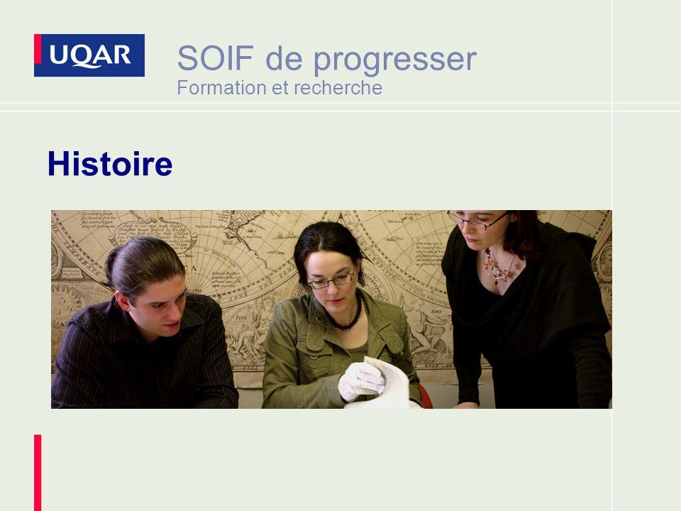 SOIF de progresser Formation et recherche Histoire