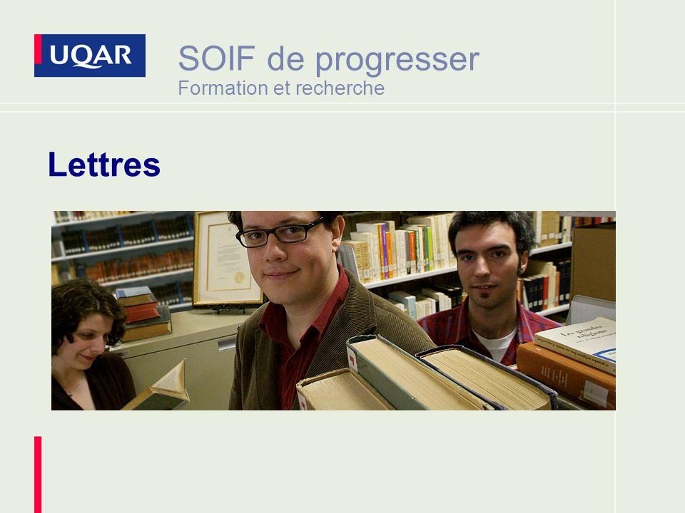 SOIF de progresser Formation et recherche Lettres