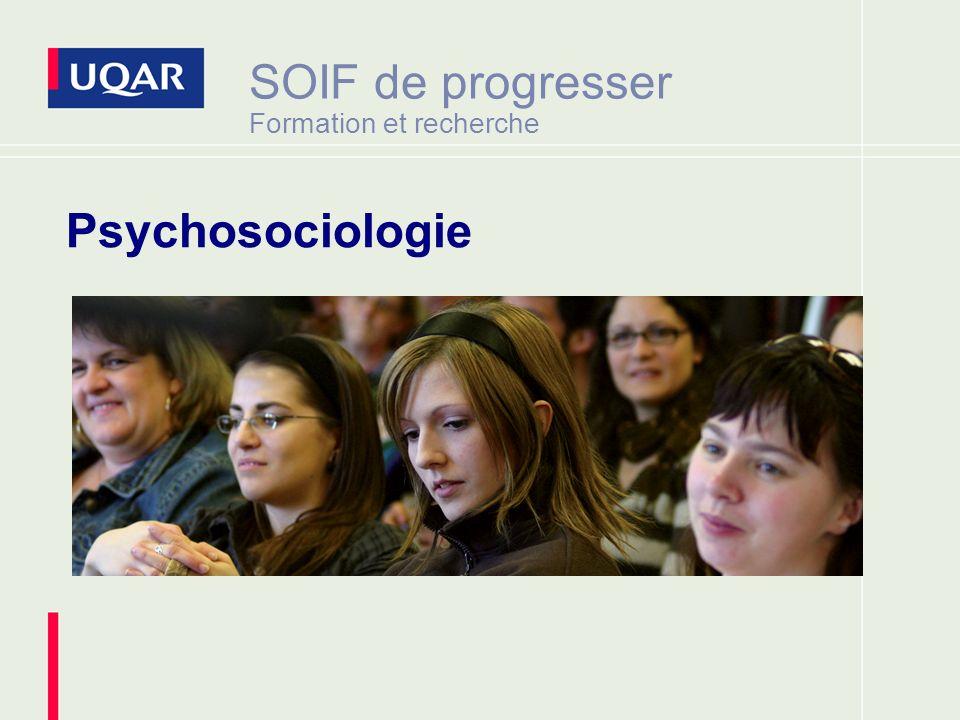 SOIF de progresser Formation et recherche Psychosociologie