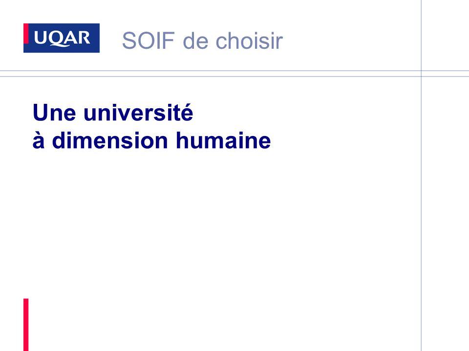 Une université à dimension humaine