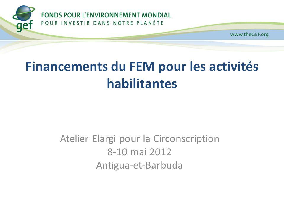 Financements du FEM pour les activités habilitantes Atelier Elargi pour la Circonscription 8-10 mai 2012 Antigua-et-Barbuda