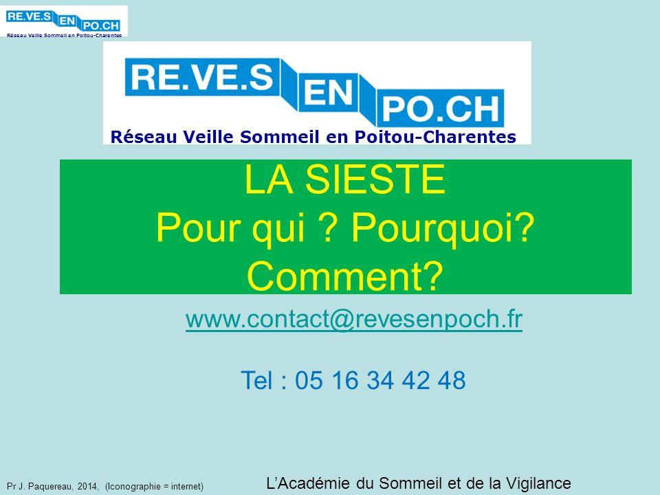 Réseau Veille Sommeil en Poitou-Charentes Pr J. Paquereau, 2014, (Iconographie = internet) LAcadémie du Sommeil et de la Vigilance Réseau Veille Somme