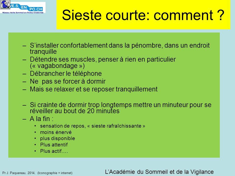 Réseau Veille Sommeil en Poitou-Charentes Pr J. Paquereau, 2014, (Iconographie = internet) –Sinstaller confortablement dans la pénombre, dans un endro