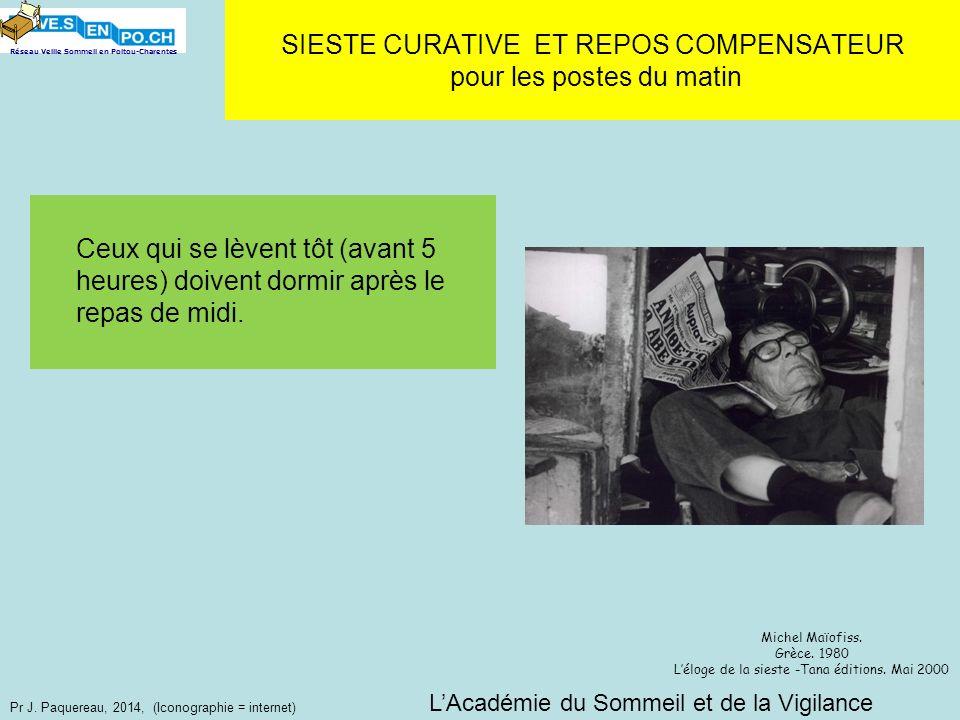 Réseau Veille Sommeil en Poitou-Charentes Pr J. Paquereau, 2014, (Iconographie = internet) Ceux qui se lèvent tôt (avant 5 heures) doivent dormir aprè