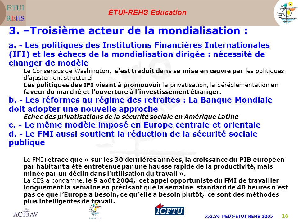 ETUI-REHS Education 552.36 PED@ETUI REHS 2005 16 a.