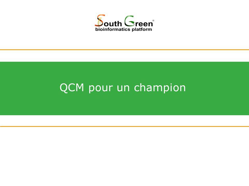 QCM pour un champion