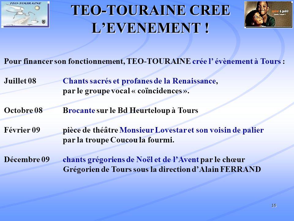 16 TEO-TOURAINE CREE LEVENEMENT .