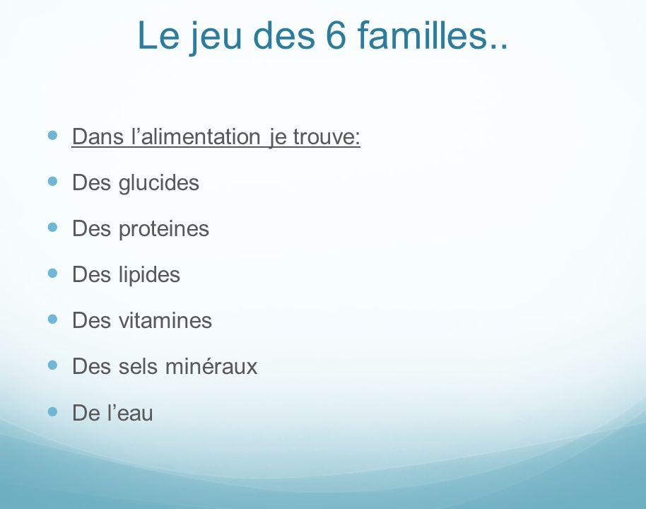 Le jeu des 6 familles..