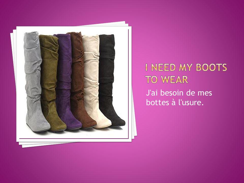 J ai besoin de mes bottes à l usure.