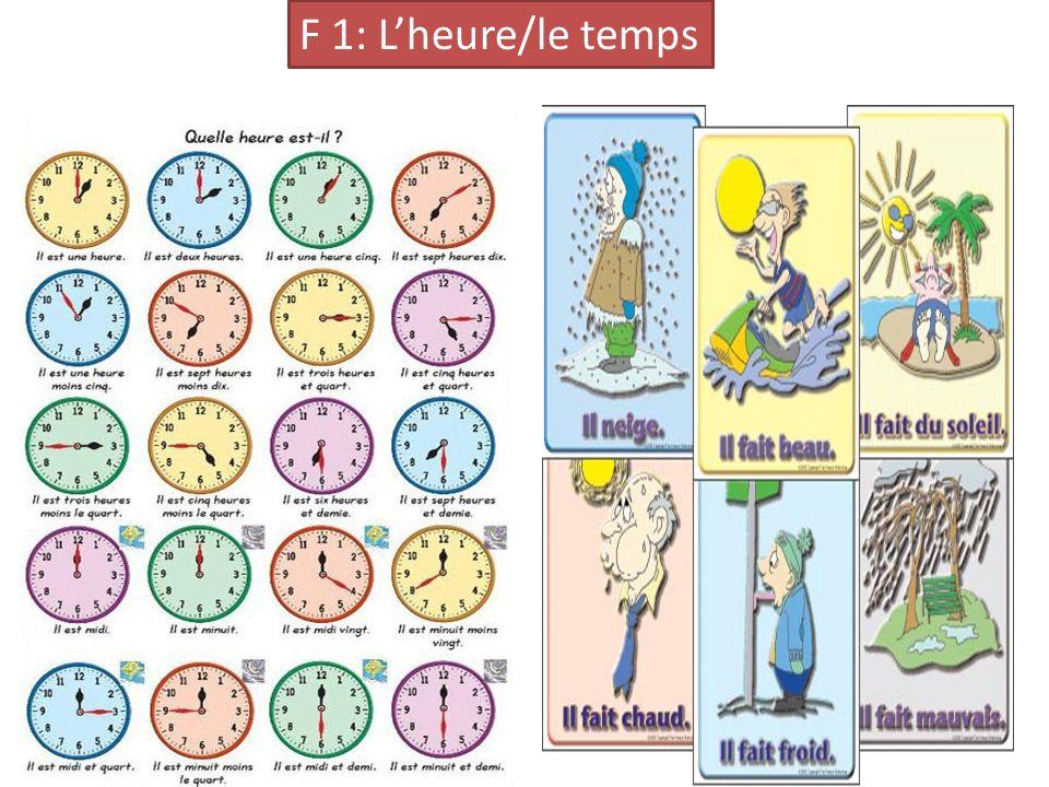F 1: Lheure/le temps