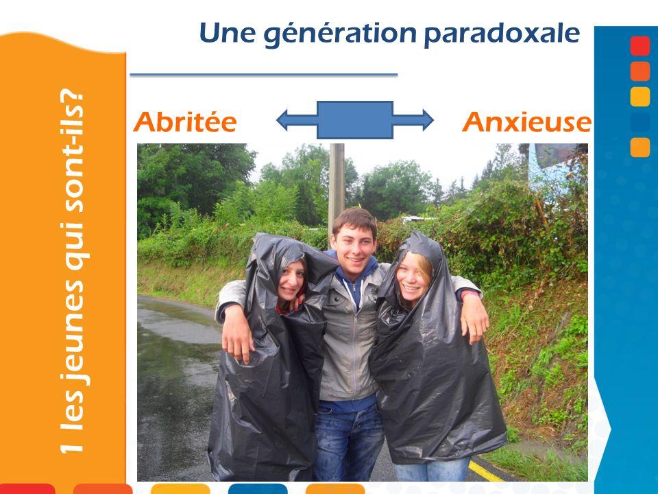 AbritéeAnxieuse 1 les jeunes qui sont-ils? Une génération paradoxale