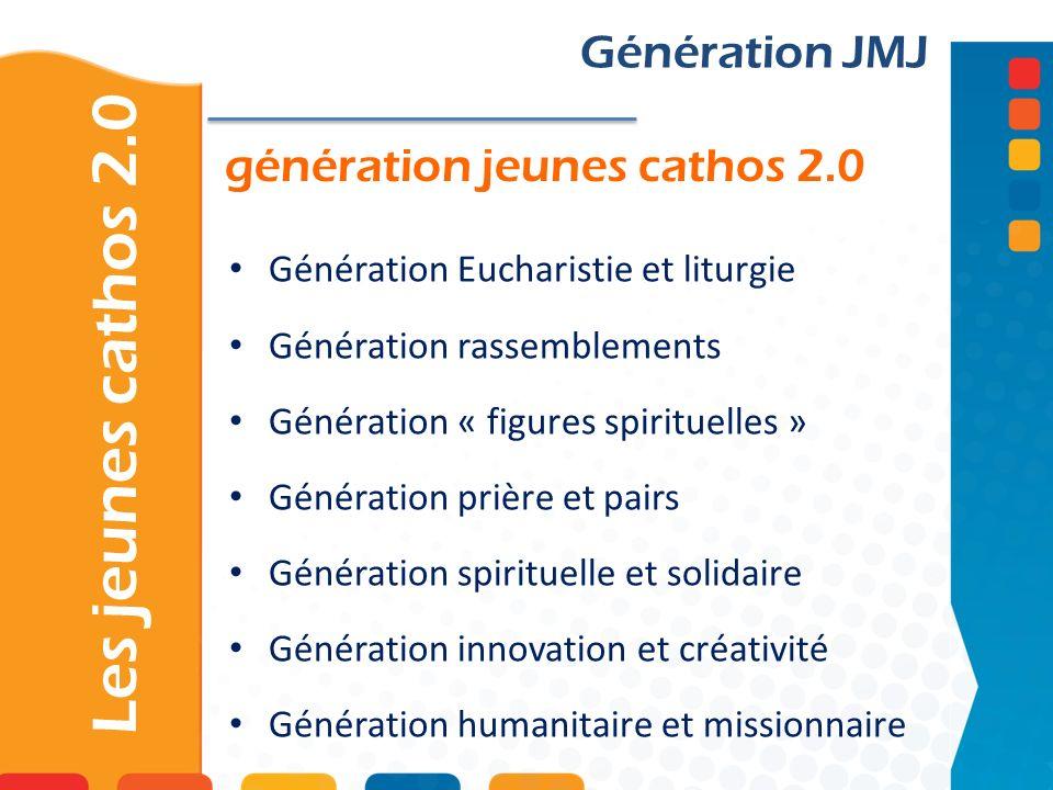 génération jeunes cathos 2.0 Les jeunes cathos 2.0 Génération JMJ Génération Eucharistie et liturgie Génération rassemblements Génération « figures sp