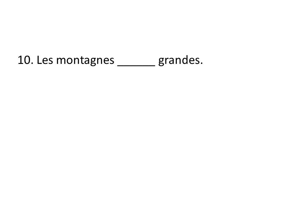 10. Les montagnes ______ grandes.