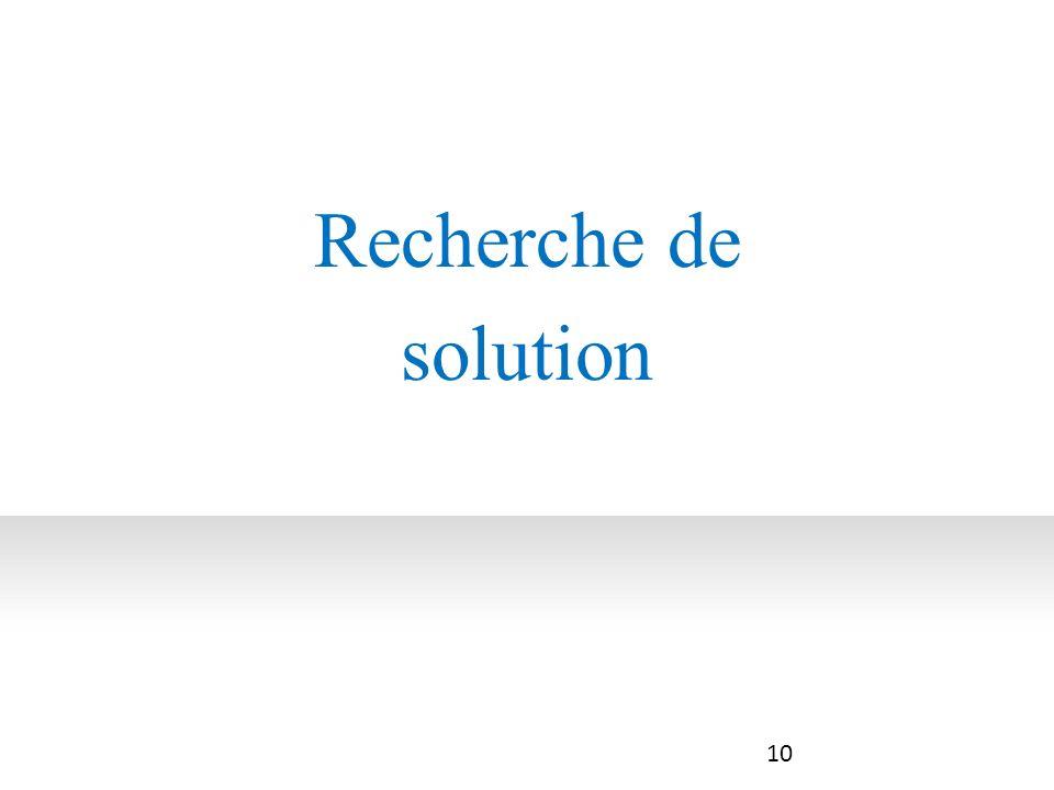 Recherche de solution 10