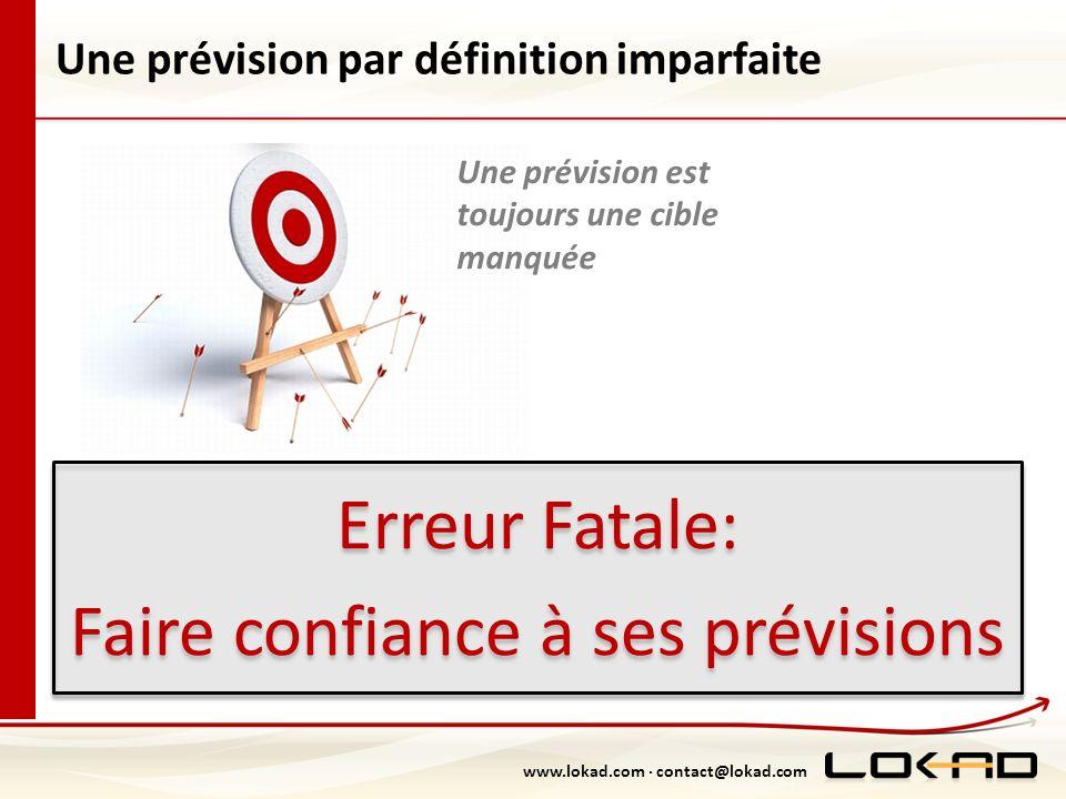 www.lokad.com · contact@lokad.com Une prévision par définition imparfaite Erreur Fatale: Faire confiance à ses prévisions Erreur Fatale: Faire confian