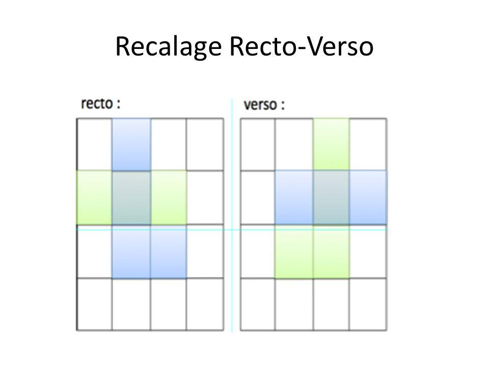 Recalage Recto-Verso
