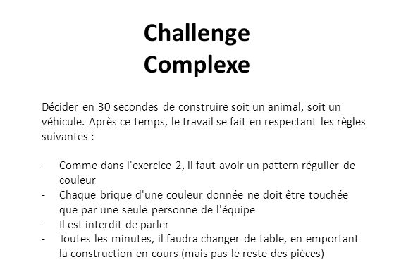 Débriefing Complexe -Qu est-ce qui diffère des situations précédentes, les problèmes simple et compliqué .