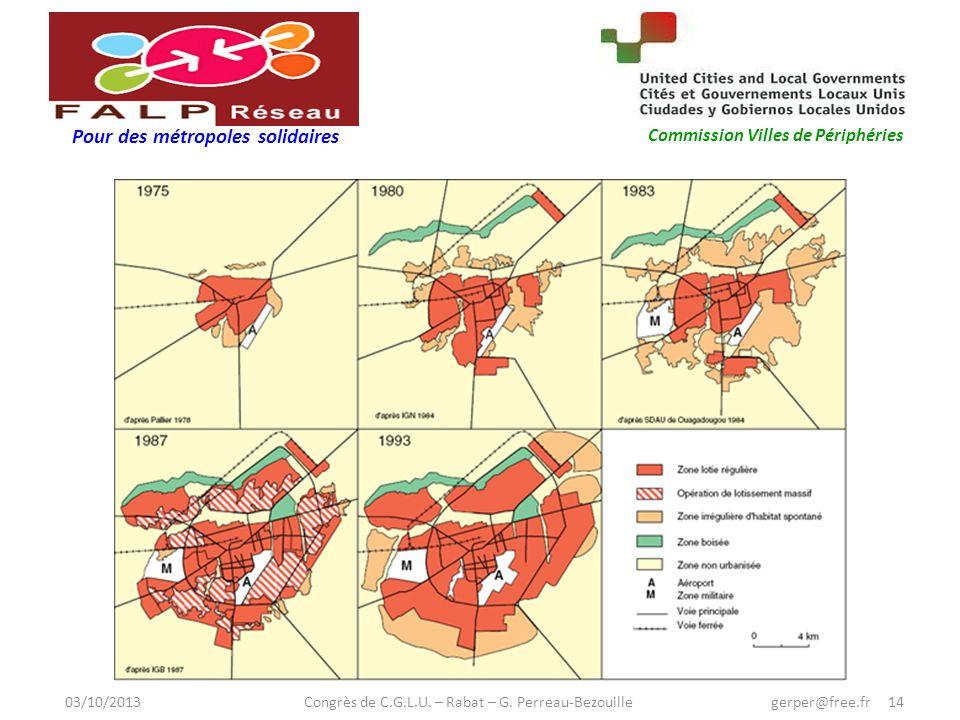 Pour des métropoles solidaires Commission Villes de Périphéries 03/10/2013 Congrès de C.G.L.U.