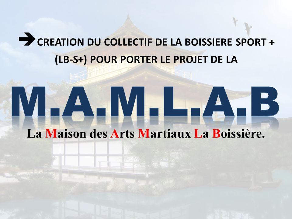 CREATION DU COLLECTIF DE LA BOISSIERE SPORT + (LB-S+) POUR PORTER LE PROJET DE LA La Maison des Arts Martiaux La Boissière.