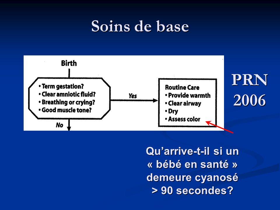 Soins de base PRN 2006 Quarrive-t-il si un « bébé en santé » demeure cyanosé > 90 secondes?