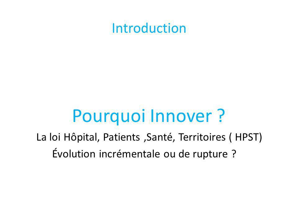 Introduction Pourquoi Innover .