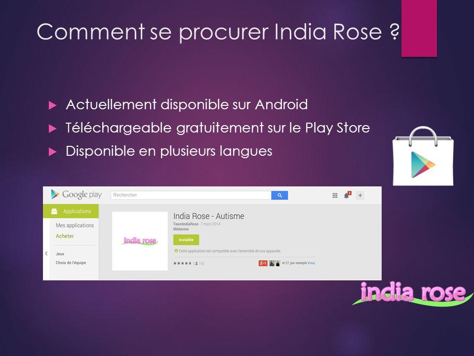 Actuellement disponible sur Android Téléchargeable gratuitement sur le Play Store Disponible en plusieurs langues