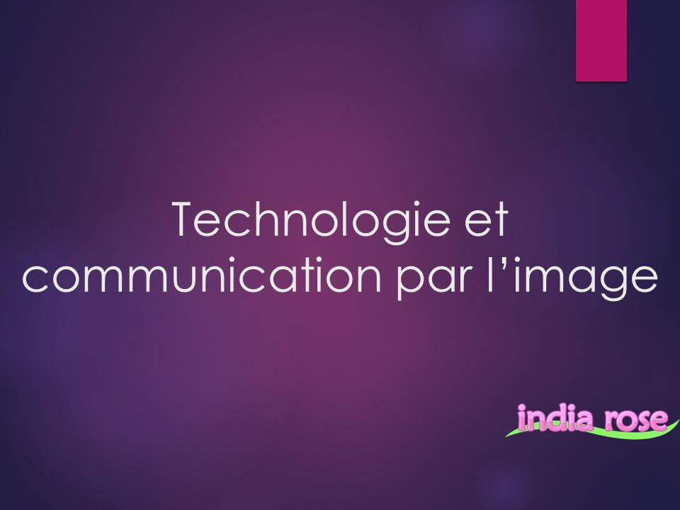 Technologie et communication par limage