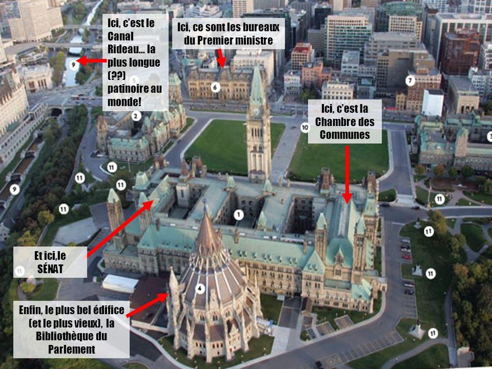 Ici, ce sont les bureaux du Premier ministre Ici, cest le Canal Rideau… la plus longue ( ) patinoire au monde.