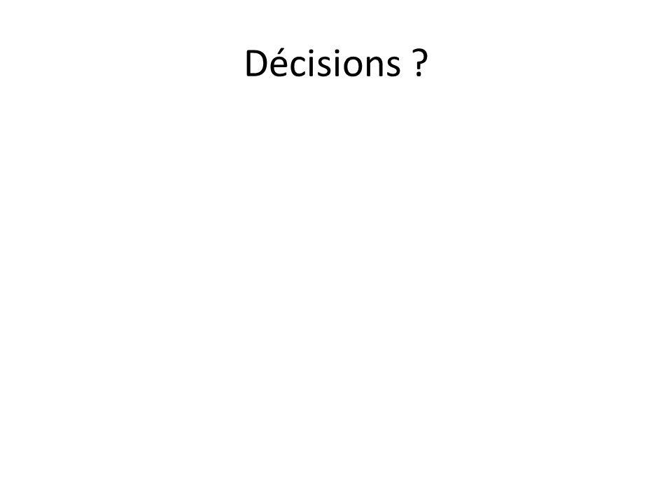 Décisions ?