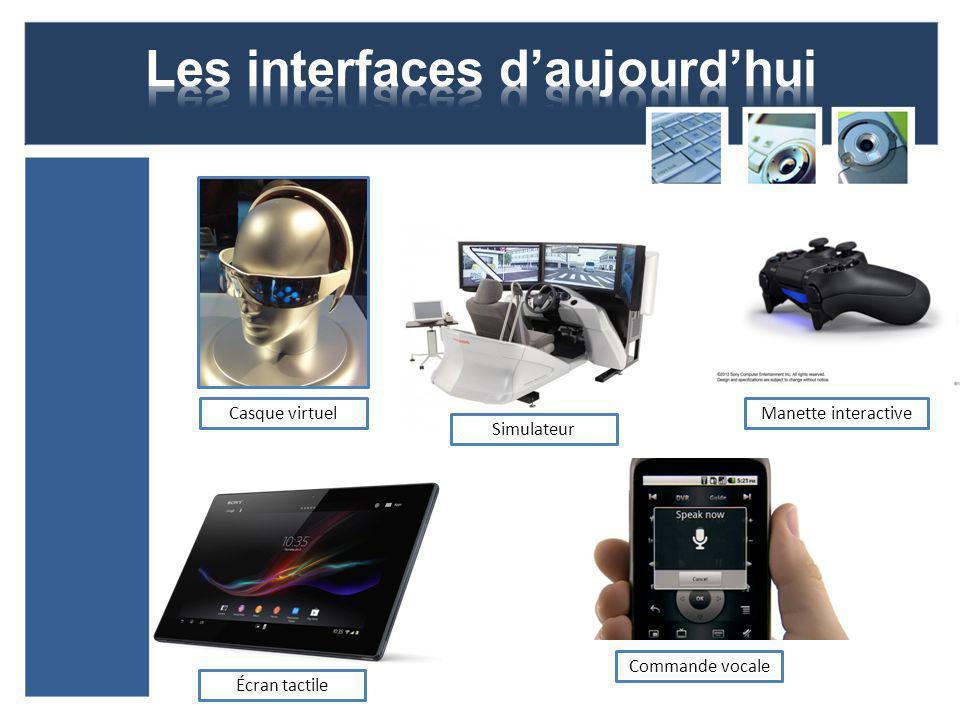 Casque virtuelManette interactive Écran tactile Commande vocale Simulateur