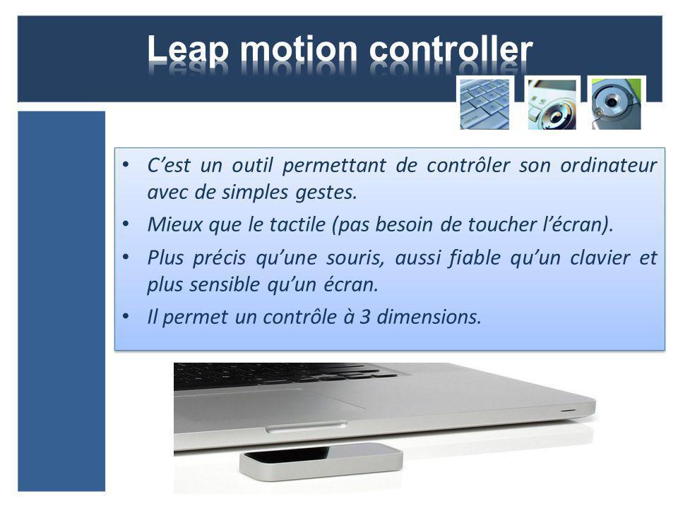 Cest un outil permettant de contrôler son ordinateur avec de simples gestes.