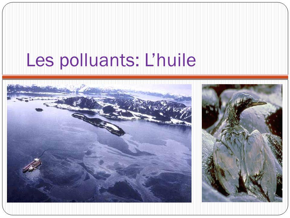 Les polluants: Lhuile